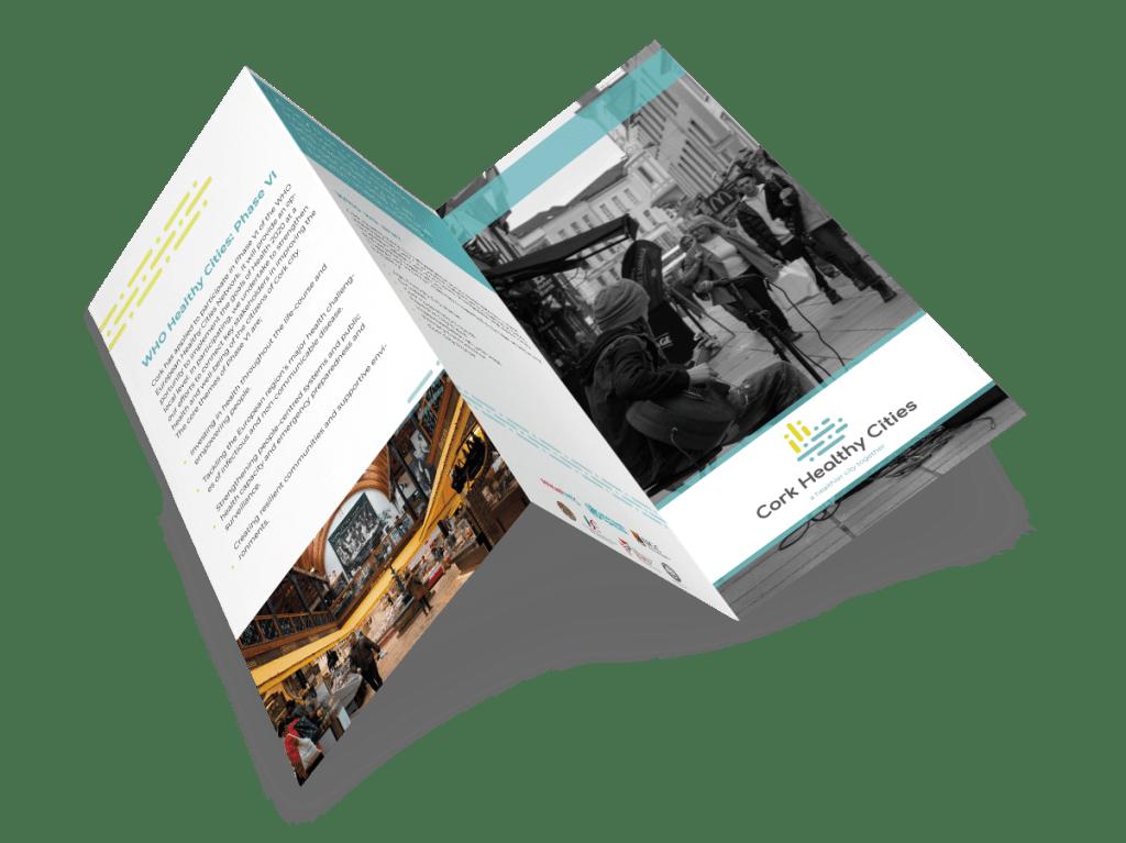 Cork Healthy Cities Leaflet Branding
