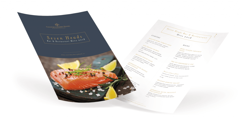 Courtmacsherry Hotel Menu 2018